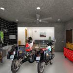 『フロンティアハウス』と『ノマディカ』がコラボした、コバユリ監修「バイクと暮らすマイホーム」で手に入れる憧れのガレージライフ!